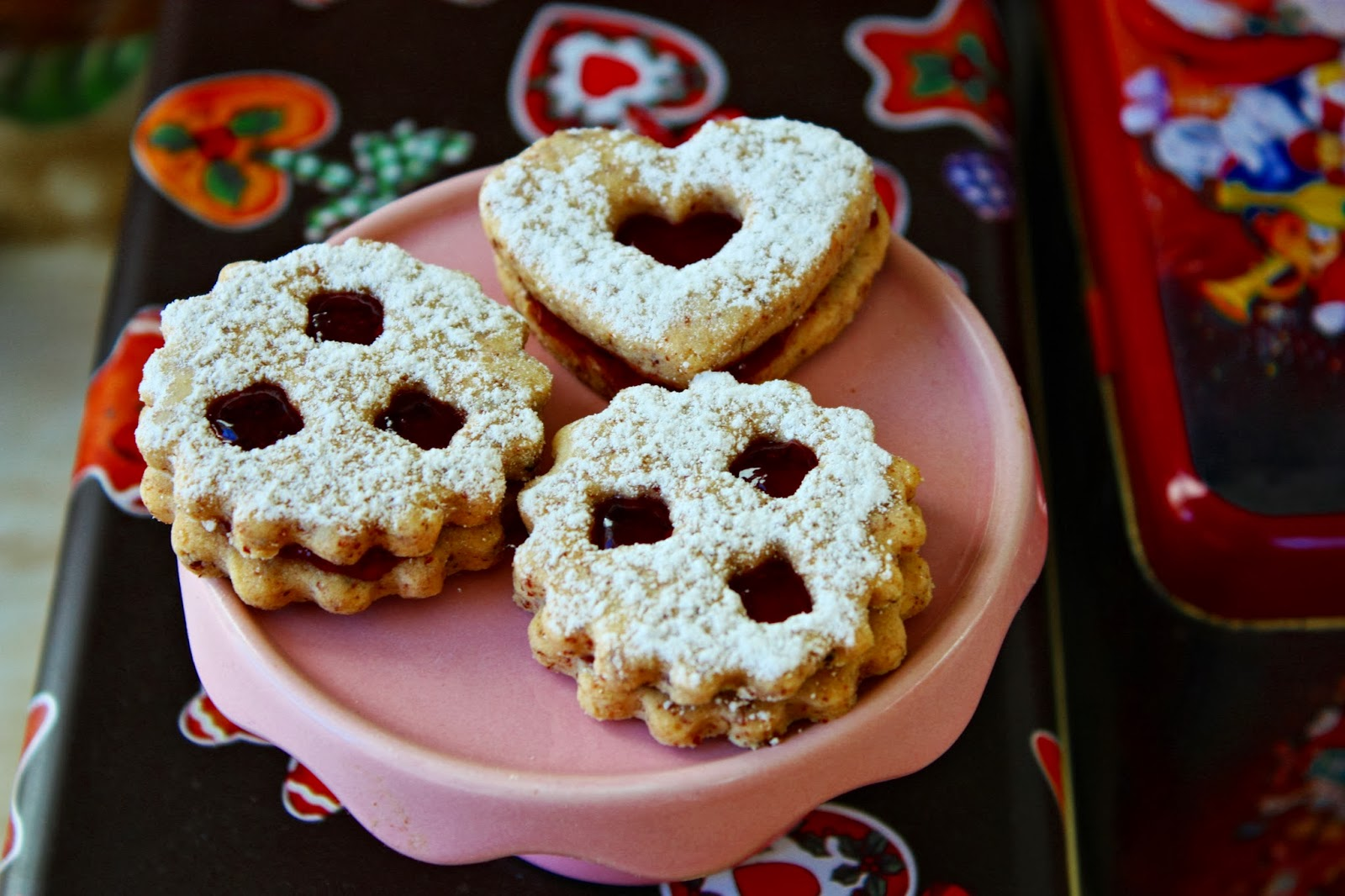German Linzer Christmas Cookies