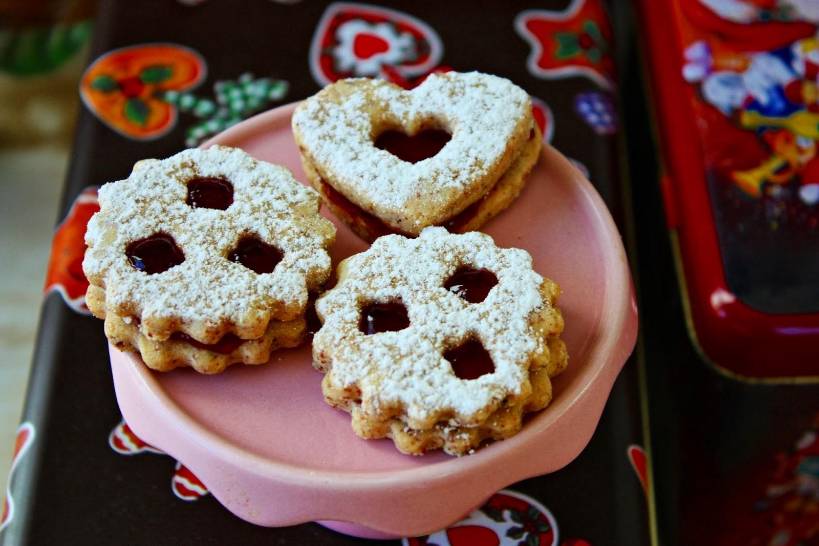 German Linzer Christmas Cookies