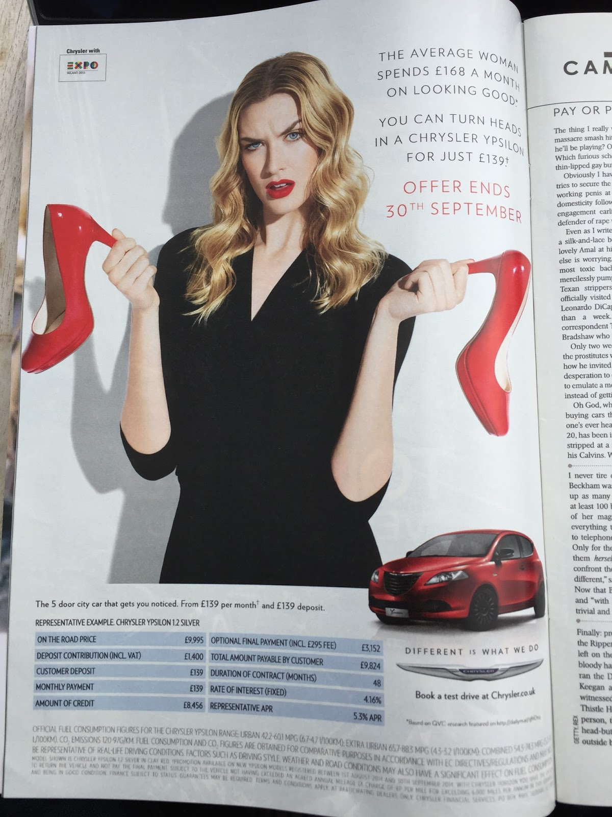 Chrysler Ypsilon vs. High Heels