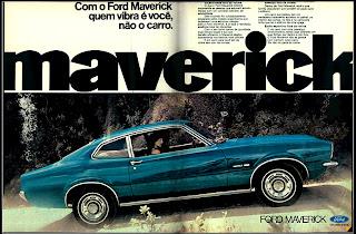 propaganda Ford Maverick - 1973.  1973. brazilian advertising cars in the 70. os anos 70. história da década de 70; Brazil in the 70s; propaganda carros anos 70; Oswaldo Hernandez;