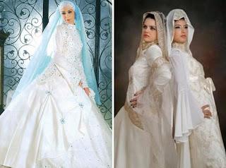 Baju Gaun Pengantin Muslimah Modern