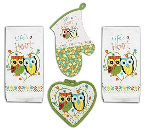 Owl Kitchen Towel Set-Life's A Hoot- 4 Piece