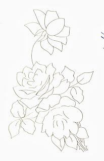 desenho de rosa e margarida para pintar