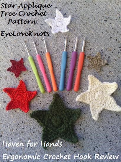 EyeLoveKnots: Star Applique in 6 Sizes with Haven for Hand Ergonomic ...