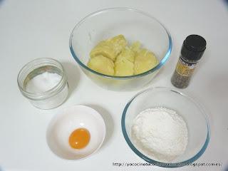 ingredientes masa gnocchis