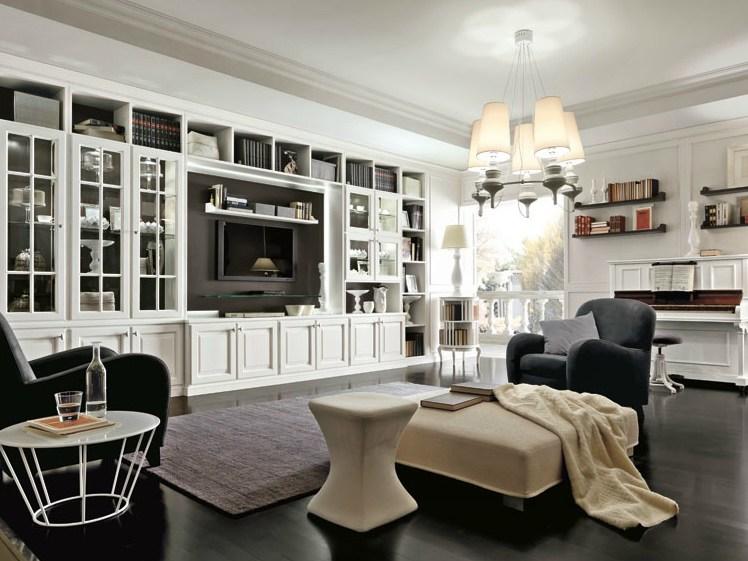 Modern classic jak urz dzi salon z telewizorem for Stile casa classica