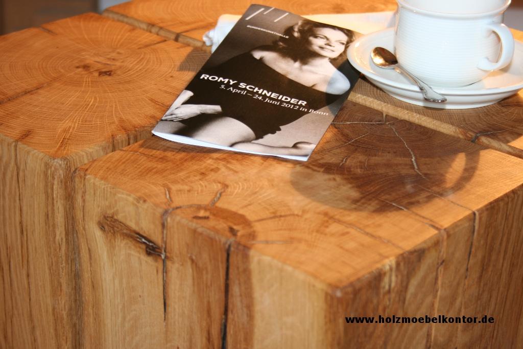 Wohnkantine wohnideen vom holzm belkontor holzblock for Couchtisch holzblock