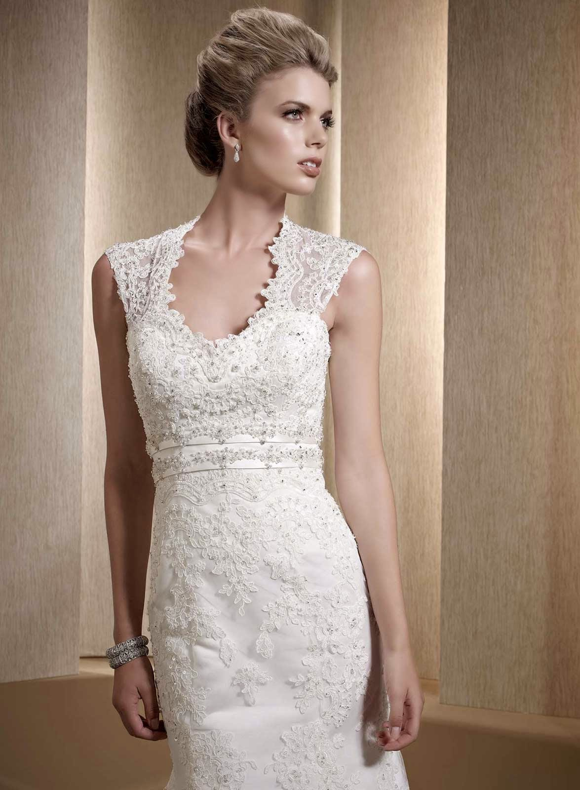White Ivory Lace Wedding Dresses Design Ideas Photos HD