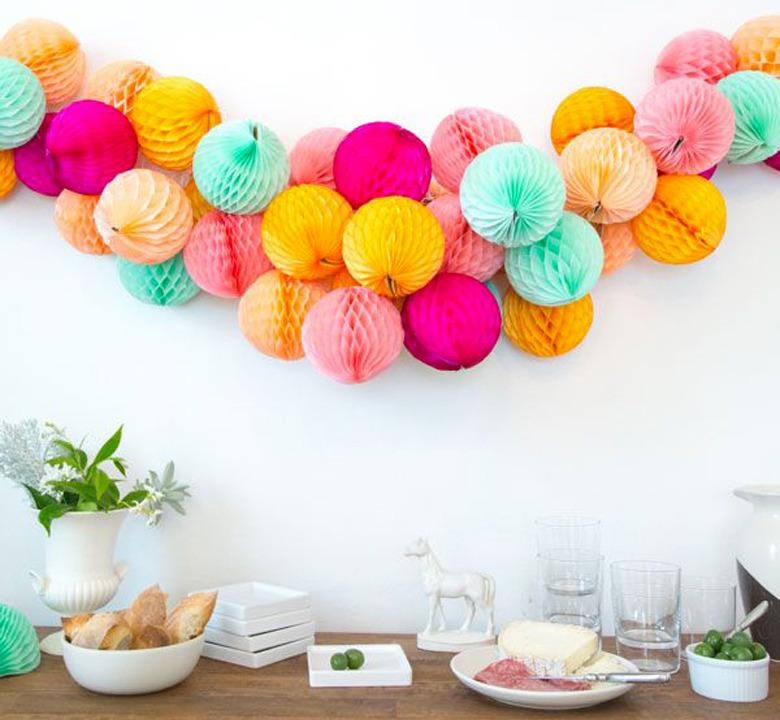 Sweet Patrícia Decoração De Festas Pompons Balões E Leques