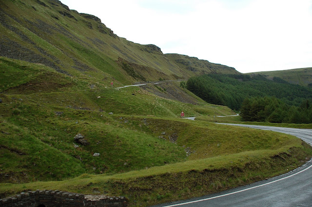The View up the Bwlch - this is the side we descended down