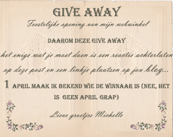 Give away bij Sweet Brocante