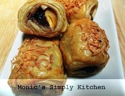 membuat banana roll dari pastry instan
