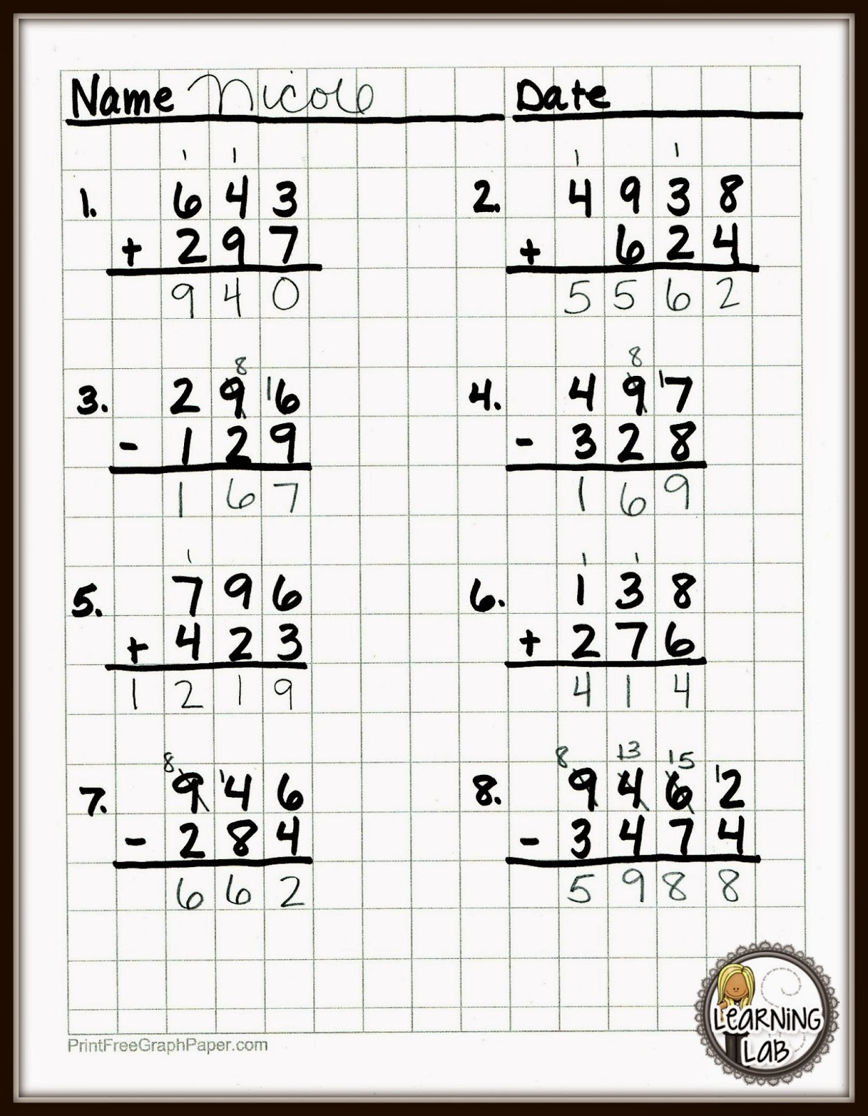 free maths graph paper  u2013 brainypdm