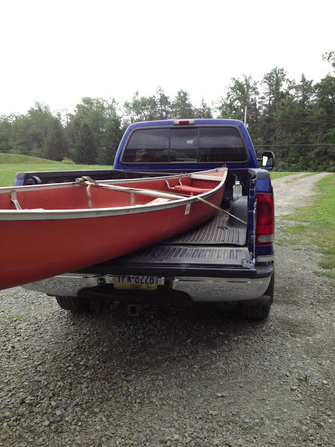 truck and canoe