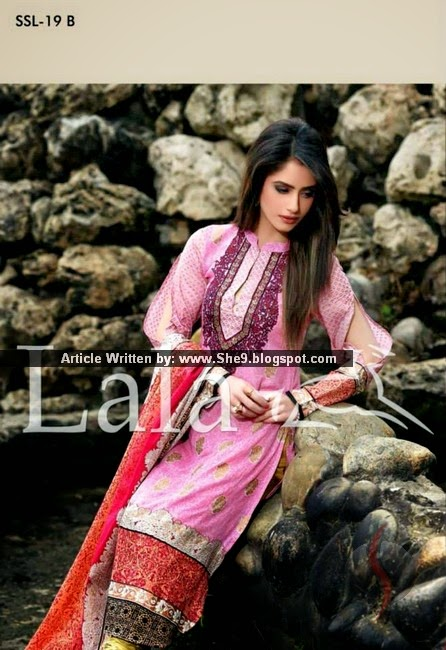 SANA SAMIA LAWN Collection 2015 by LALA