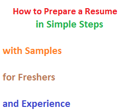how to prepare resumes ~ Yangoo.org
