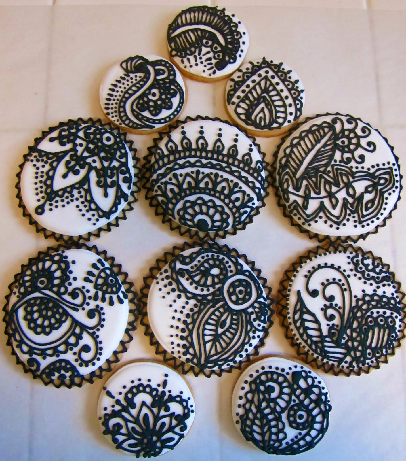 Asian Mehndi Party Ideas : Mehndi henna inspired cookies asian wedding ideas