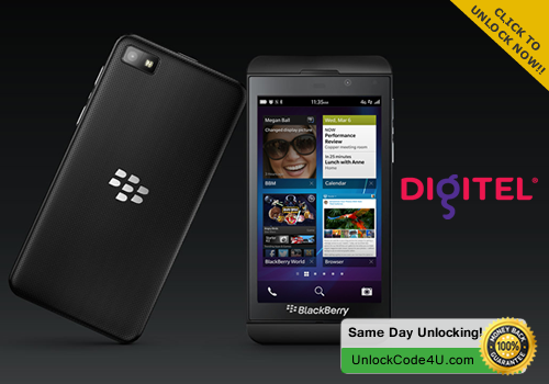 Factory Unlock Code for BlackBerry Z10 from Digitel Venezuela