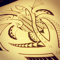 Tribal Polynesian turtle tattoo design