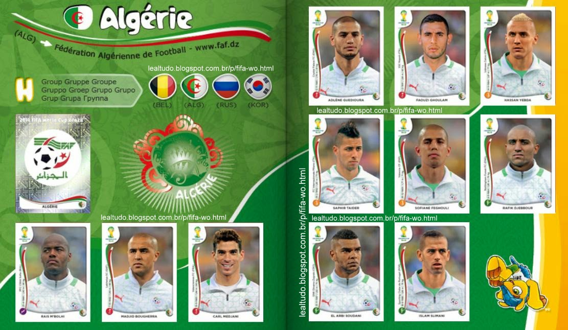 Album ALGÉRIE - ARGÉLIA Fifa World Cup BRAZIL 2014 LIVE COPA DO MUNDO Sticker Figurinha Download Lealtudo