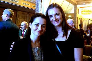 Les stars russes Kosteniuk et Isinbayeva - Photo © Kosteniuk