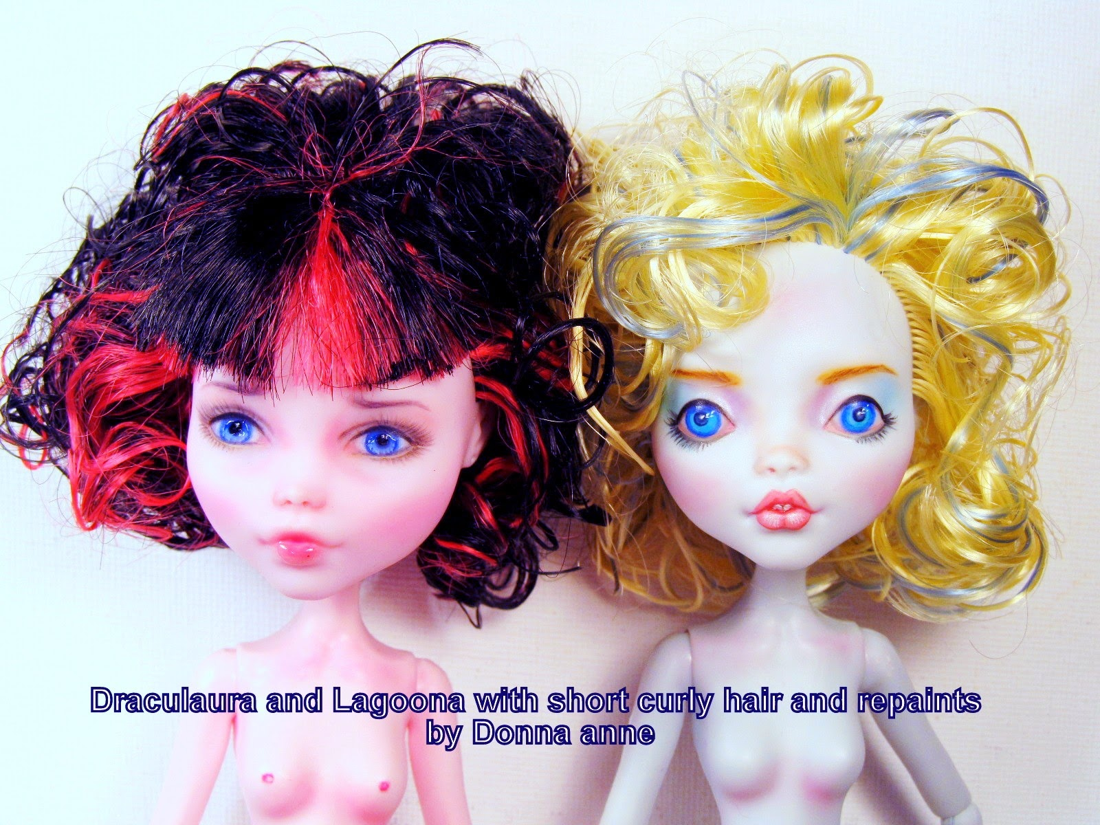 Draculaura and Lagoona repaint and boil perm