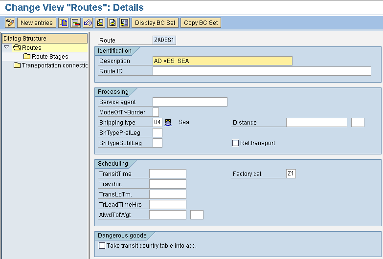 Factory Calendar Sales Organization Sap : Sap tutorials afs route determination configuration