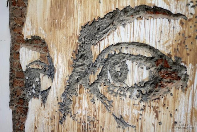 Vhils's Chipped Wall Portraits - Creators Working on it Seen On www.coolpicturegallery.us