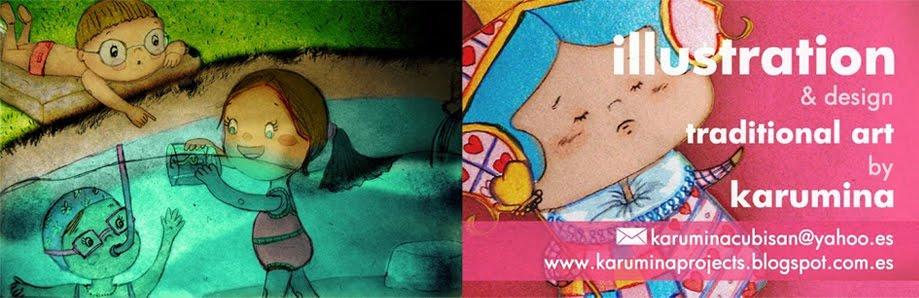 traditional illustrations by karumina