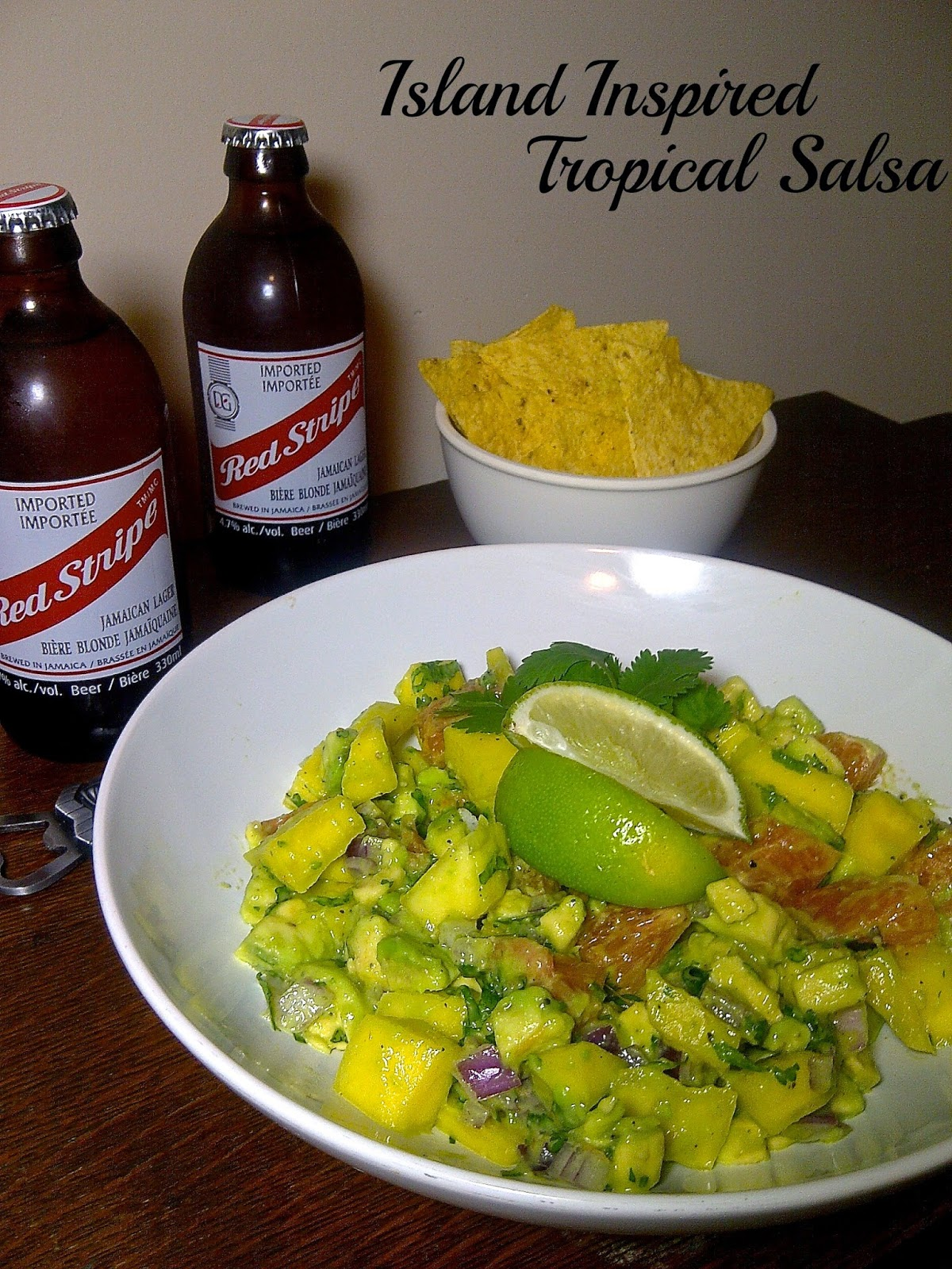 Island Inspired:  Tropical Salsa - pair with a gluten free chips (and a gluten free brew, too!)