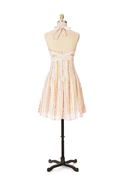 Anthropologie Confetti Halter Dress