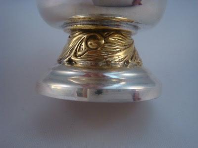 1854 Russian Sterling Silver vodka cup . 925. Tsarist Russia .
