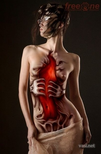 Beautiful Girl Body Painting