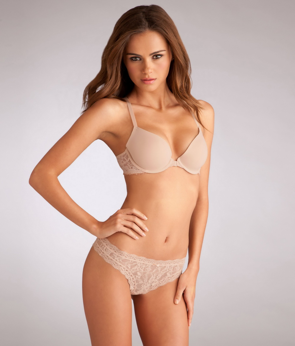 Xenia Deli looks amazing for Bare Necessities lingerie photoshoot