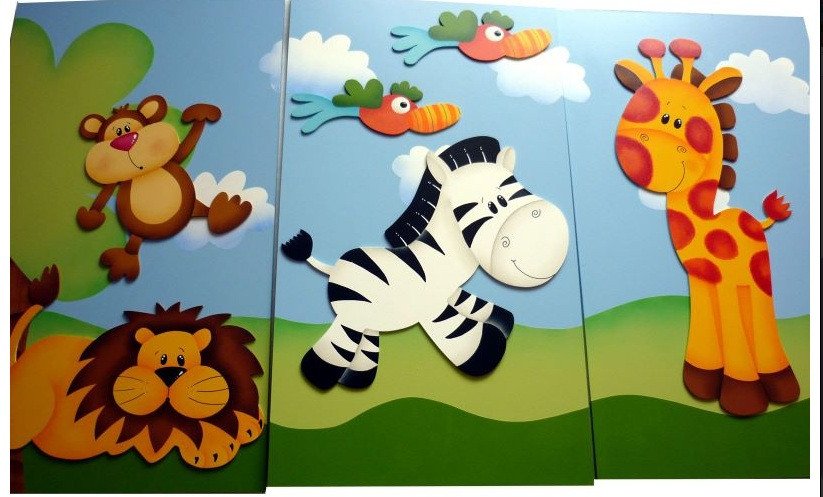 Mente creativa tripticos para ni o en country - Cuadros decorativos infantiles para ninos ...
