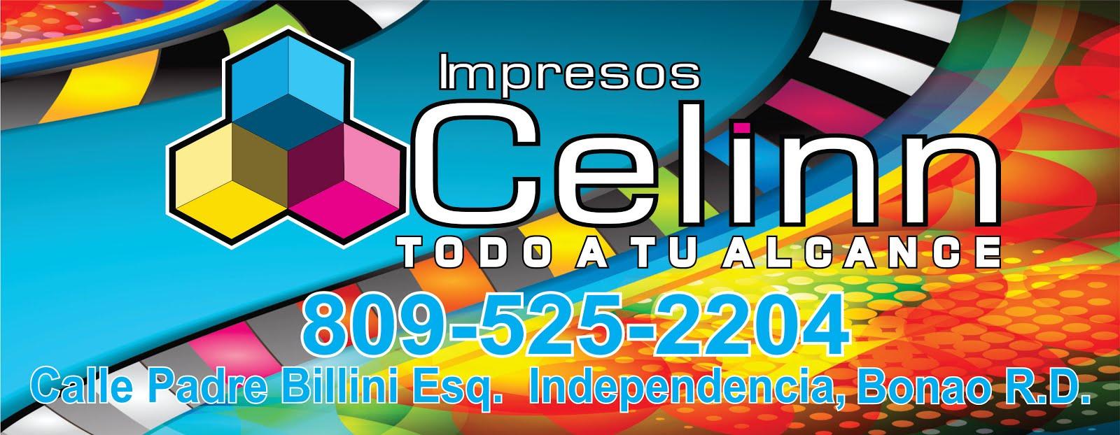IMPRESOS CELINN, TELEF. 809-525-2204