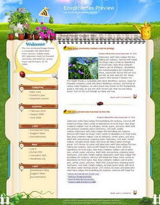 3PM Gardening Template Diary Blogspot Ahiagz News