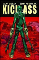Book cover of Kick Ass by Mark Milalr and John Romita Jr.