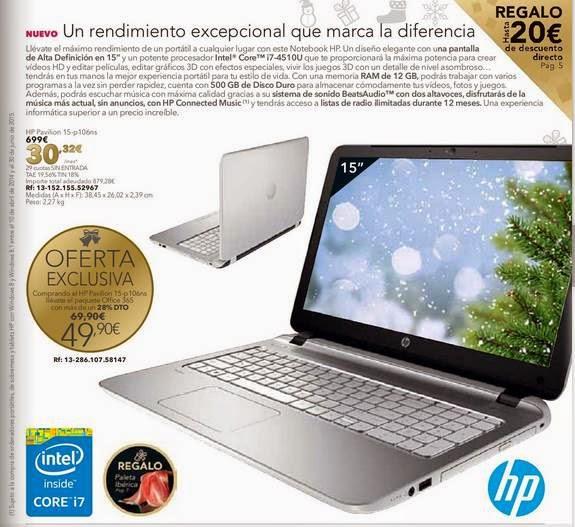 notebook hp 15-p106ns Navidad 2014