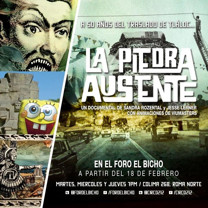 """Proyección del documental """"La piedra ausente"""" en Foro el Bicho"""