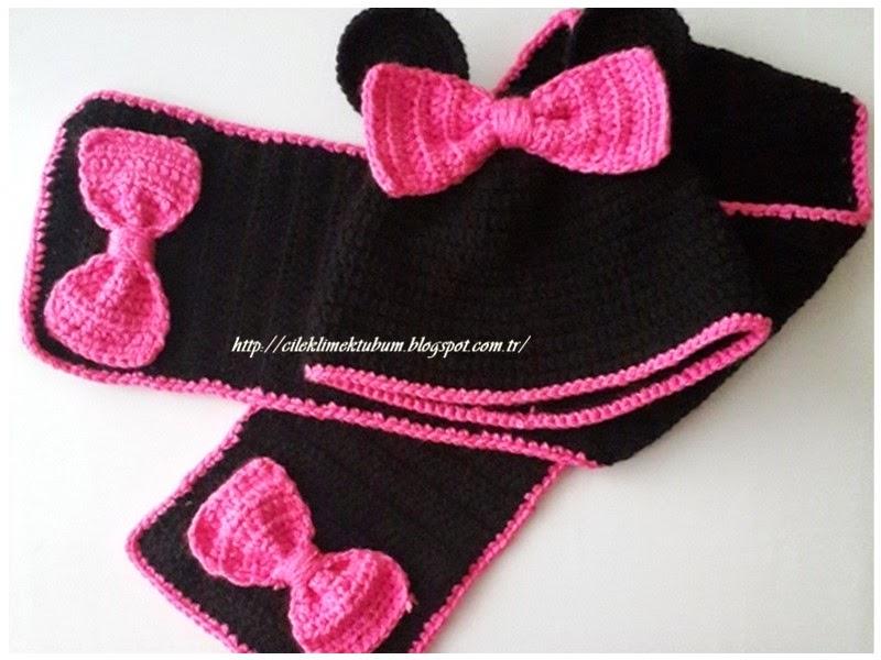 tığ işi, crochet, handmade, elişi, örgü, bere, şapka, atkı, örgübere, minniemouse, pembe, pink, çocuk, tığişibere, tığişiatkı,
