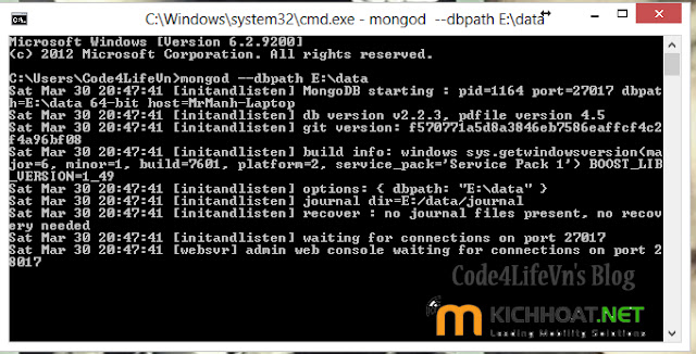 how to start mongo server in windows and pycharm