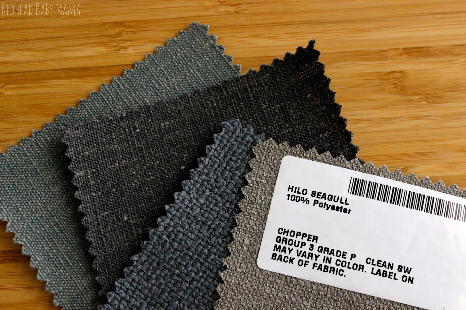 Wayfair.com Custom Upholstery Program Fabric Swatches