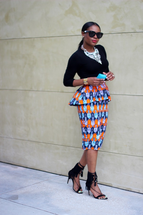 Ankara, peplum skirt, tribal print, printed skirt, tribal necklace, statement necklace, fringe sandals, schutz shoes, schutz sandals, kija schutz, shinymix, chanel, majestic, majestic t-shirt, earring jackets, yetunde sarumi, printed skirt, pencil skirt, midi skirt, shops around lenox, MONDAY MOTIVATION, MCM, MONDAY, NEW WEEK, TODAY, STYLE INSPIRATION , MONDAY STYLE INSPIRATION, rawler earrings, earrings, valentino, rocks studs, valentino rocks studs, celine, tortoise shell, tortoise sunglasses, celine sunglasses, celine clutch, blue clutch, blue bag, red lips, red lipstick, michele watch, gold watch, SPRING TRENDS, SPRING FASHION, SPRING STYLE, fashion, fashion friday, tgif,  reed krakoff cuff, silver cuff, reed krakoff,   FASHON, STYLE, FASHION BLOG, FASHION BLOGGER, F BLOGGER, STYLE BLOG, STYLEBLOGGER, STYLIST, STYLISH, STREETSTYLE, PERSONAL STYLE, PERSONAL STYLE BLOGGER, BLOGGER, BLOG, INSTA STYLE, INSTA FASHION, WHAT TO WEAR, OOTD, FASHION OF THE DAY, STYLE OF THE DAY, FASHION AND STYLE, winter STYLE, WHAT TO WEAR FOR This season, MUST HAVE, winter TRENDS, fashion TRENDS  , Atlanta blogger