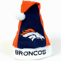 broncos santa light-up hat