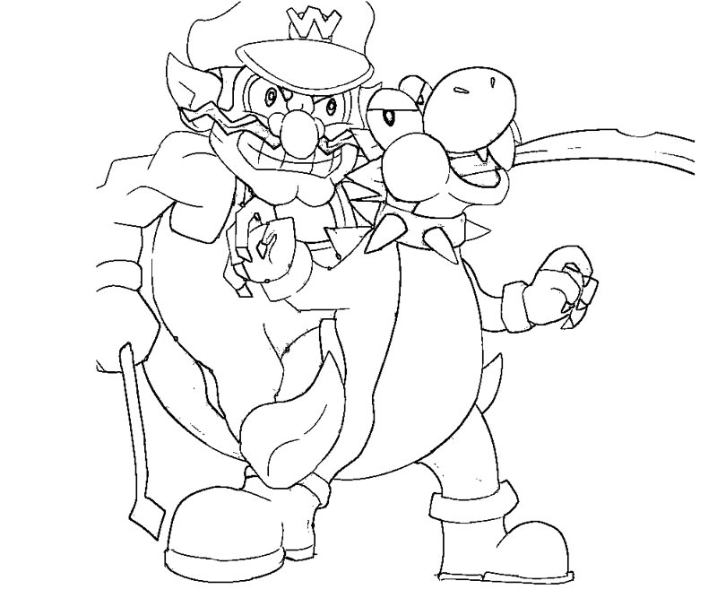 wario coloring pages - photo#29