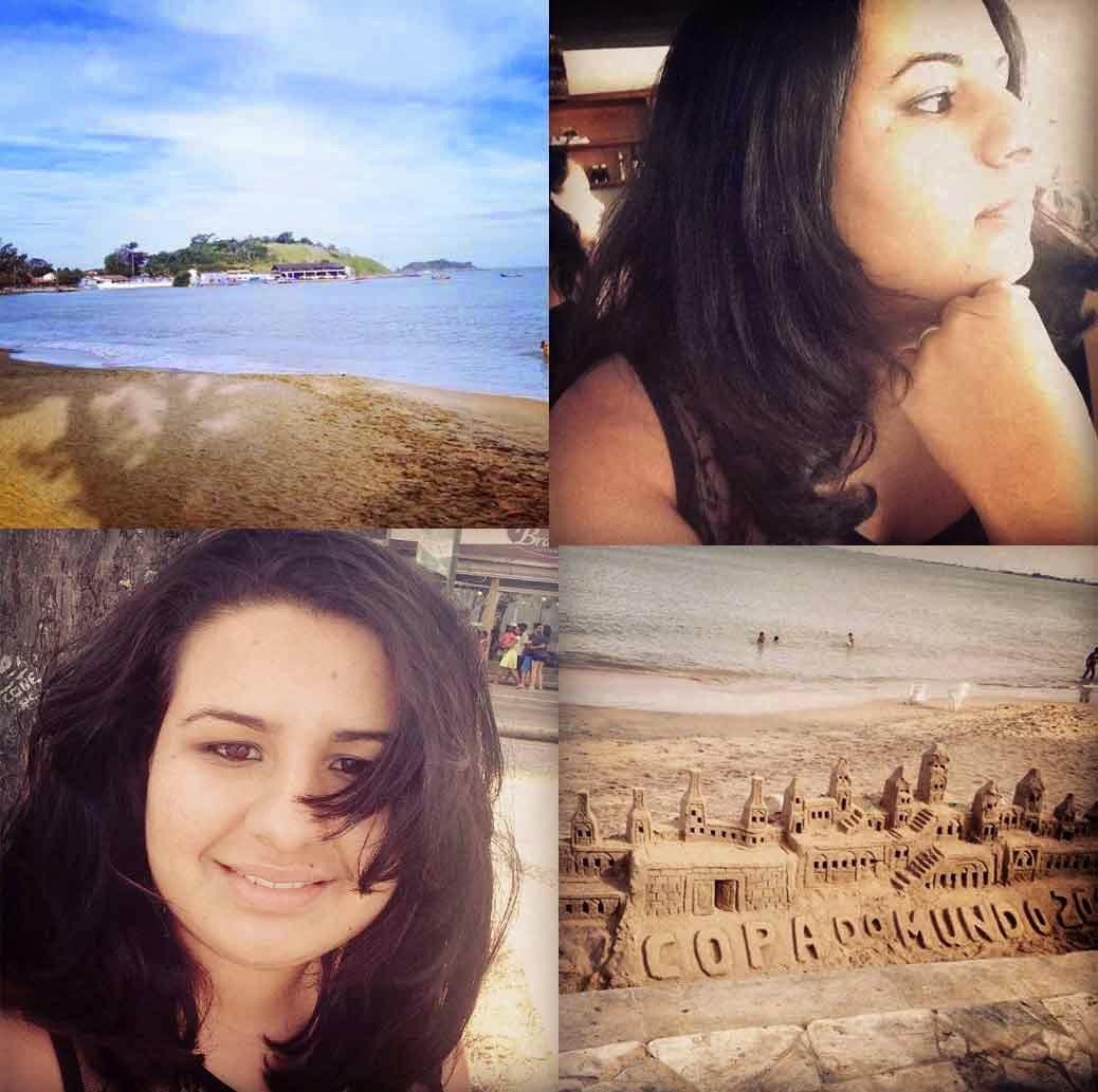 Daiana na praia