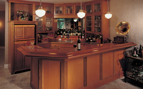 Several good ideas to help you decorating home wet bars for Home bar decor