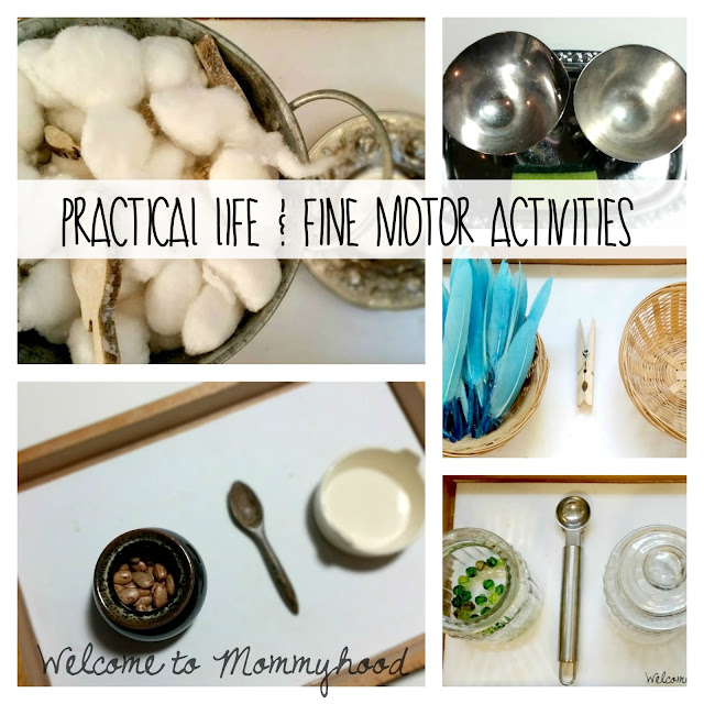 Montessori inspired August practical life and fine motor activities for preschoolers by Welcome to Mommyhood #montessori, #practicallife, #finemotoractivities