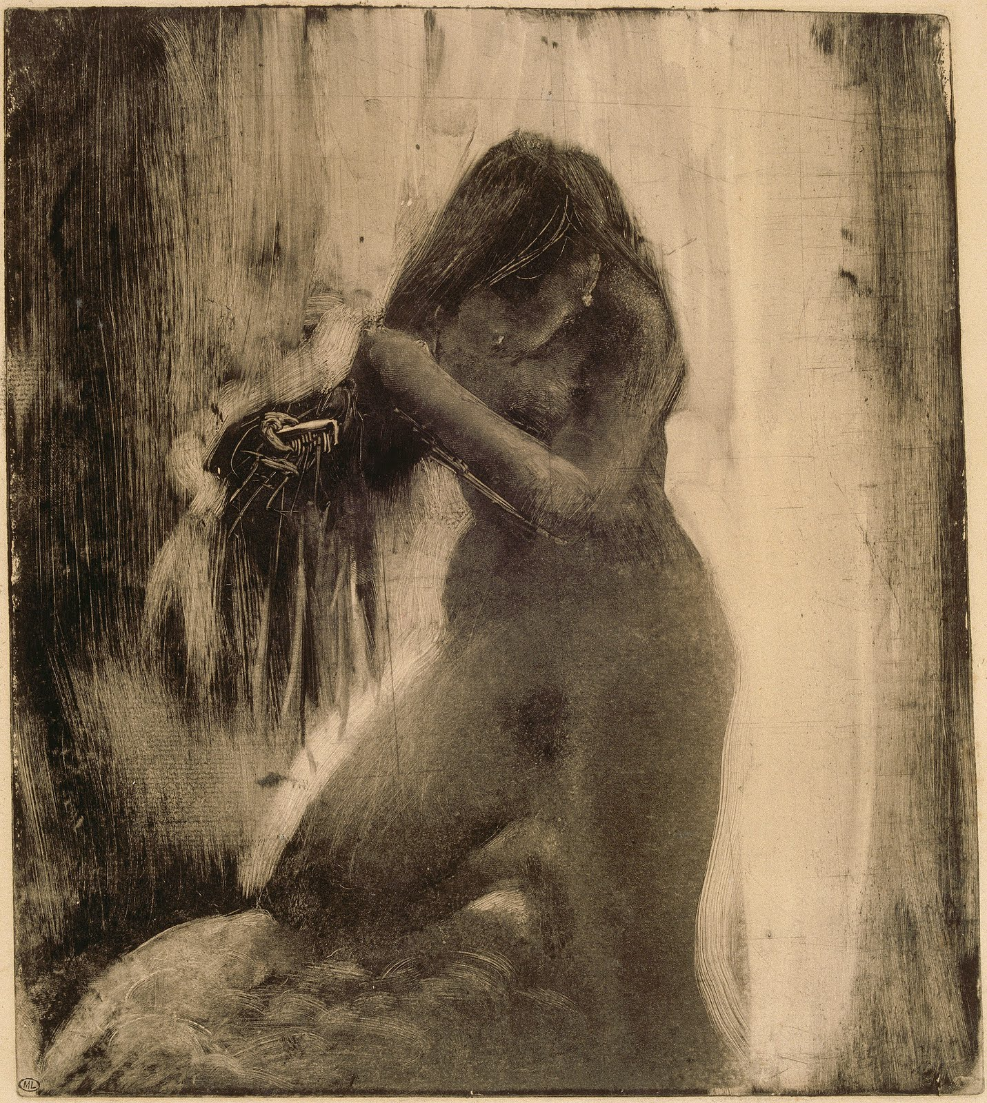 Nude Woman Combing Her Hair, 1877-83